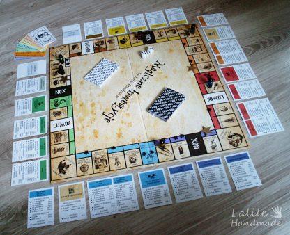 Gra planszowa-Magiczne Inwestycje-Lalile Handmade-Harry Potter-monopoly-eurobiznes-planszówka-prezent dla potterhead-dla fana pottera