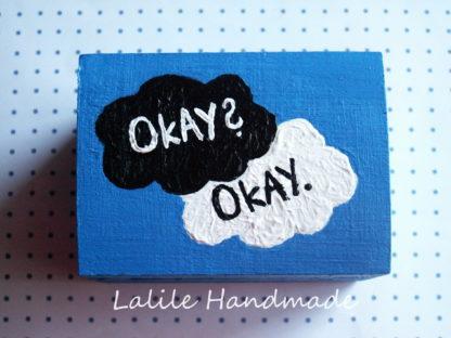 Pudełko OKAY Gwiazd naszych wina-john green-okay okay-pudełeczko-szkatułka